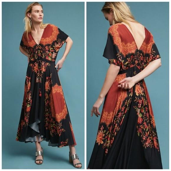 ed2a44cdc32f Anthropologie Dresses | Nwt Farm Rio Marlow Floral Dress M | Poshmark